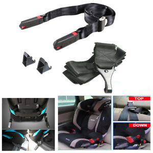 Universal Isofix Latch Connector Seat Belts Kit For Car Baby Child Safety Seats