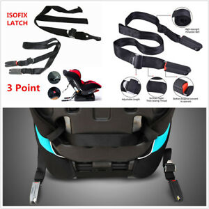 3 Point Isofix Latch Belt Car Baby Child Safety Seats Interface Connection Tape