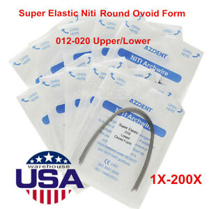 Usps Dental Orthodontic Super Elastic Niti Round Arch Wires 012 020 Upper Lower
