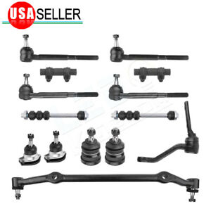 14pc Idler Arm Center Link Tie Rod End Ball Joint For Chevy Malibu Buick Regal