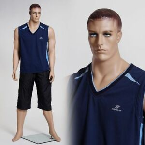 Male Full Body Mannequin Realistic Male Mannequin With Molded Hair