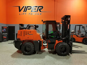 2018 Viper Rt8000 8000lb Pneumatic Rough Terrain Forklift Diesel 4x4x4 Lift
