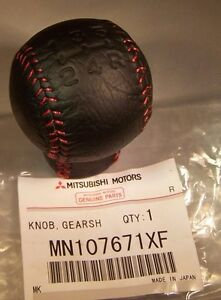 Genuine Mitsubishi Evolution 10 Final Edition Shift Knob Red Stitch Evo X Fe