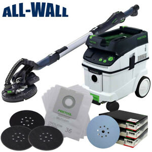 Festool PLANEX Drywall Sander LHS-225 wDust Collection Vac Discs Filter Bags