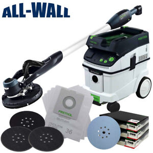 Festool Dustless Drywall Sander Vacuum Pro Kit W Sanding Discs Filter Bags