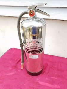 Vintage Amerex 240 2 5 G Water Class 2a Chrome Stainless Steel Extinguisher