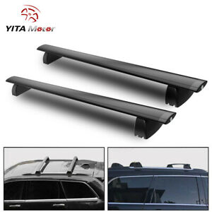 For 2011 2018 Jeep Grand Cherokee Black Top Roof Rack Cross Bar Cargo Luggage