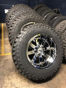 20 20x12 Moto Metal Mo962 Chrome Wheels 37 Mud Tires 8x170 Ford F250 Package
