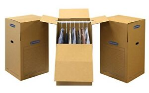 Bankers Box Smoothmove Wardrobe And Moving Boxes 24 X 24 X 40 3 Pack 77110