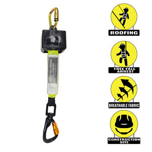 Spidergard Spl rw8 8 feet Retractable Lifeline With 2 Inch Webbing Lime
