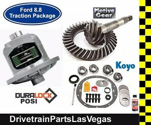 Ford 8 8 Duralock Posi Package Gear Set Master Install Kit 28 Spline 4 56 Ratio