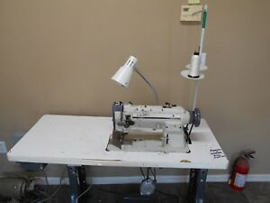 Singer Industrial Sewing Machine 211 With Table Motor Walking Foot And Reverse