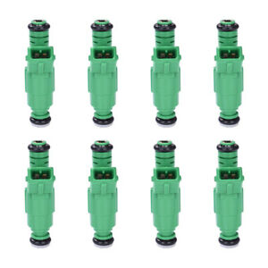 8pcs 0280150558 42lbs Green Top Racing Fuel Injector 440cc Ev1 Turbo 42 Lb Hr