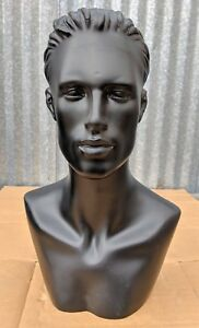 Less Than Perfect 513 a Black Male Mannequin Head Form Display With Bust