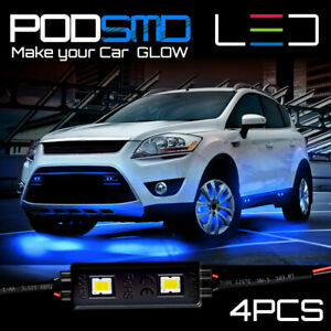 Neon Under Car Glow Kit Blue Accent Underbody Rock Led Lights For Ford Escape