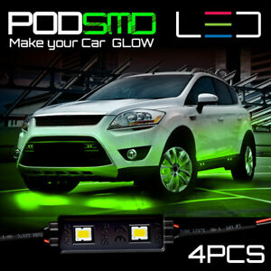 Green Led Glow Under Car Underbody Accent Neon Rock Lights Kit For Honda Crv