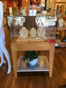 Wide Jewelry Display Case For 500 Each Used In Good Condition