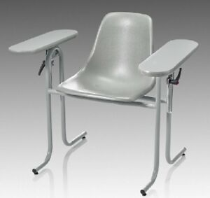 Mckesson Blood Drawing Chair Double Fixed Armrests Gray