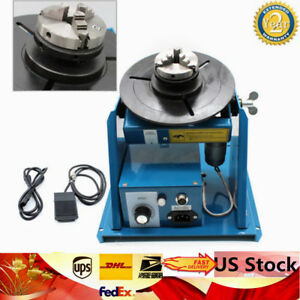 Welding Positioner Turntable Table 2 5 3 Jaw Lathe Chuck 2 10r min 110v 80a New