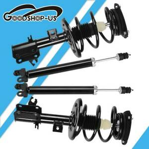 For 2001 02 Honda Civic 1 7l Front Rear Complete Shock Struts Springs Assembly