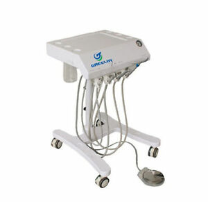 600w New Portable Dental Turbine Unit With Air Tank Saliva Ejector 4h Gu p301