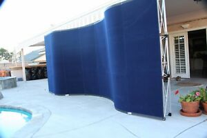 20 Trade Show Display W Hook and loop Fabric End Caps Blue 2 Rolling Boxes