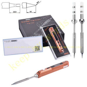 Ts100 Golden Digital Oled Programable Interface Dc5525 Soldering Iron Two Tips