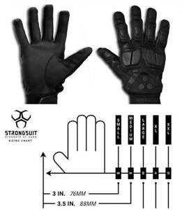 2 Pairs Strongsuit 40200 Swat Tac Tactile Tactical Leather Work Gloves 2x large