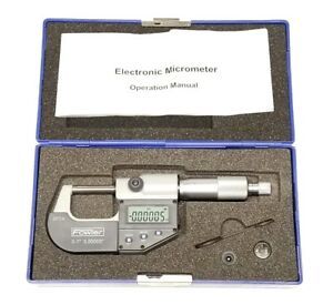 Fowler Electronic Outside Micrometer 0 1 Depth 0 00005 Ip54 Digital Universal