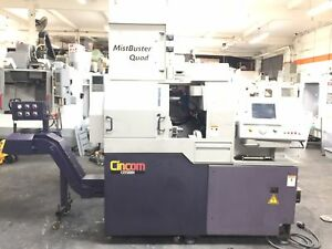 Citizen L20 Vii Cnc Swiss Lathe 2005 Mini Boss 332 e Bar Feeder Mist Buster