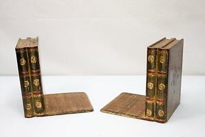Vintage Italian Italy Gold Gilt Florentine Tole Bookends