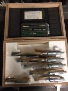Mitutoyo 103 907 40 Outside Micrometer Set 0 6 Range 0001 Resolution
