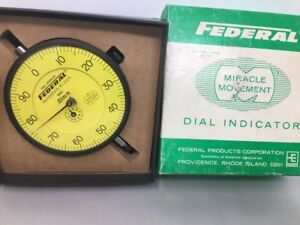 Large Federal R61 Dial Indicator Miracle Movement 01mm With Box