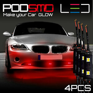 Red Accent Rock Under Car Neon Led Lights Underbody Glow Kit For Honda Accord