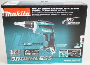 New Makita Xsf03z 18v Lxt Lithium ion Brushless Cordless Drywall Screwdriver