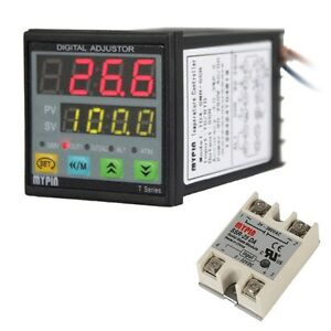 New Digital Pid Temperature Controller Td4 snr Solid State Relay Ssr 40da In Usa