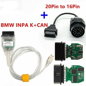 Bmw Inpa K can Plus 20pin To 16pin Obd2 Adaptor K Dcan Inpa With Ft232rl Chip