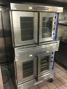 Bakers Pride Cyclone Double Deck Full Size Gas Convection Ovens