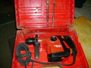Hilti Rotary And Chipping Hammer Drill Te30 C With Bits Look