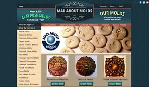 Established Online Craft Business For Sale Clay Push Molds Work From Home