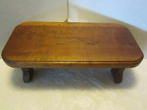 Primitive Foot Milking Stool Bench Wood Handmade Hickory 14 Farm Chic Usa