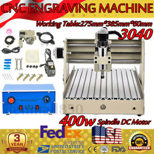 3040 4 Axis 400w Cnc Router Engraver Engraving Milling Carving Metal Cut Machine