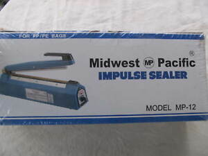 New In Box Midwest Pacific Impulse Sealer Mp 12