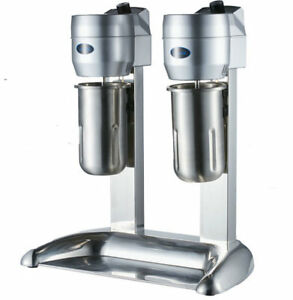 Stainless Steel Double Heads Milk Shake Machine Milk Mixer Commercial 220v