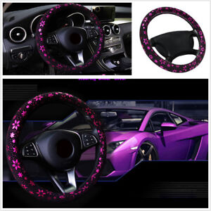37 38 Cm 15 Shiny Purple Snowflake Car Suv Truck Steering Wheel Cover Anti slip