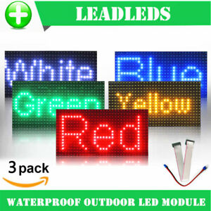 32 16 Waterproof P10 Outdoor Red Green Yellow Blue Led Module For Single Color