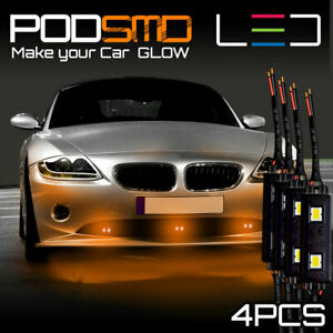 Under Car Amber Neon Accent Glow Underbody Rock Led Lights For Mazda Mx 5 Miata