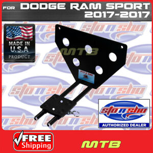 License Plate Bracket For 17 17 Dodge Ram Sport Quick Release Sto N Sho Sns129