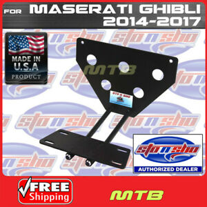 License Plate Bracket For 14 17 Maserati Ghibli Quick Release Sto N Sho Sns77