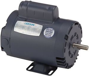 Leeson Electric Motor 110161 00 1 5 Hp 3450 Rpm 1ph 115 230 Volt 56 Frame